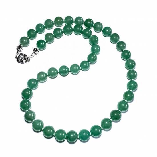 Ожерелье с нефритом
