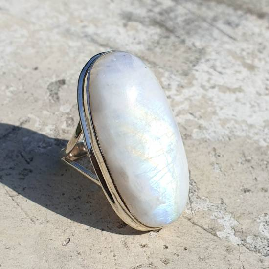 Ring with moon stone