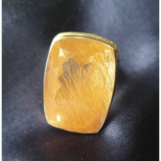 Rutile quartz. Ring