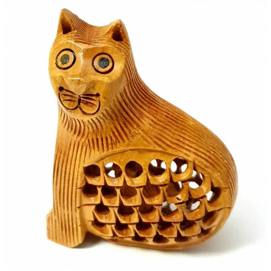 Wood Cat carved2