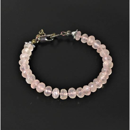 Pink quartz bracelet